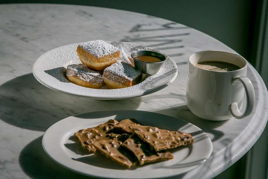 Creole praline bark and beignets at Alba Ray's. Photo: John Storey, Special To The Chronicle
