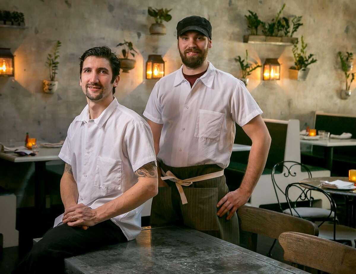 Chef Adam Rosenblum, left, and Chef de Cuisine Matt Woods of Alba Ray's in San Francisco, Calif., are seen on March 25th, 2017.