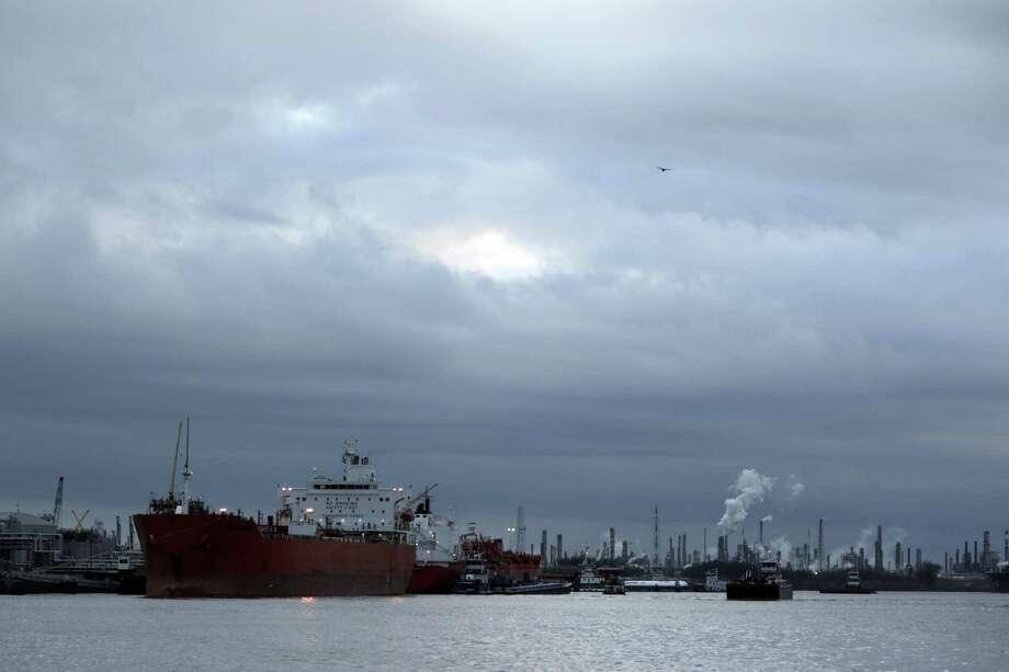 A ship docked along Buffalo Bayou at the Houston Ship Channel Thursday, Jan. 19, 2017, in La Porte. Photo: James Nielsen /Houston Chronicle / © 2017  Houston Chronicle