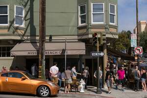 The line for brunch outside of Mission Beach Cafe at 11:30 am in San Francisco Calif., Sunday, September 28, 2014