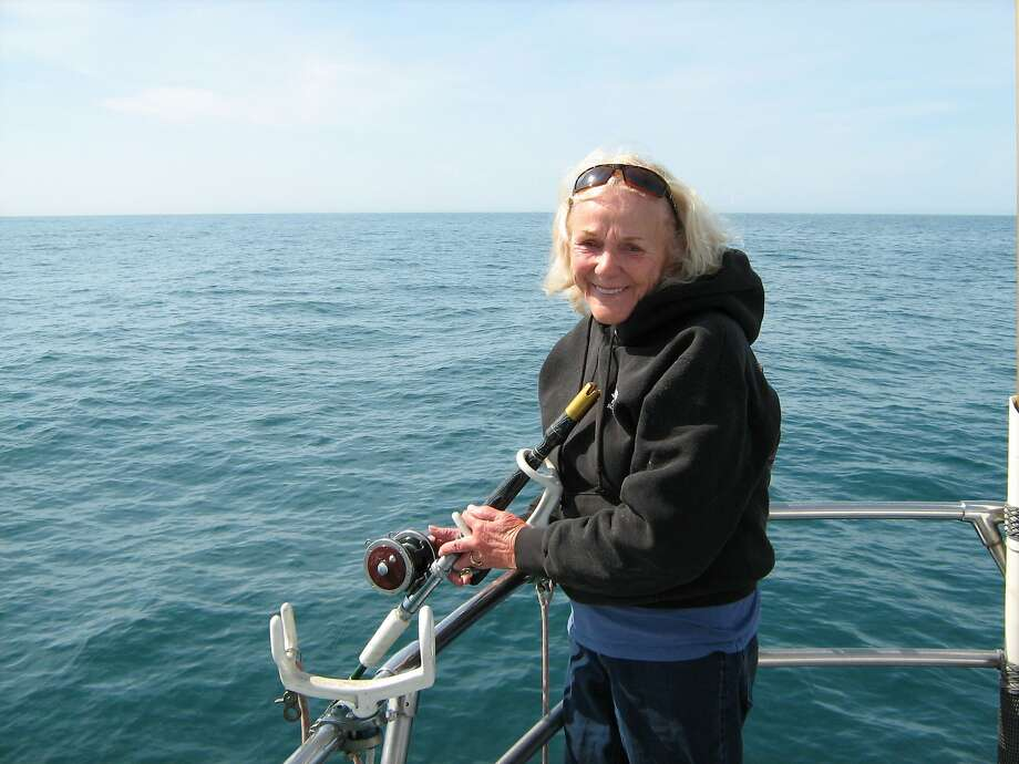 Jacqueline Douglas, 91, for 48 years took people out fishing aboard her boat the Wacky Jacky, mainly going after salmon. Photo: Courtesy Peter Ottesen