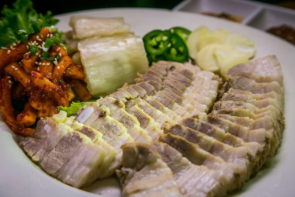 Steamed Pork Belly at Tin & Pig in Oakland, Calif., is seen on March 25th, 2017.
