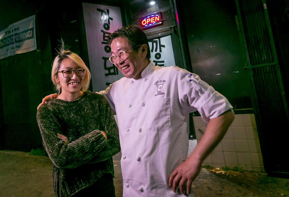 Chef/owner Jae Choi and his daughter So Choi of Tin & Pig in Oakland, Calif., are seen on March 25th, 2017.