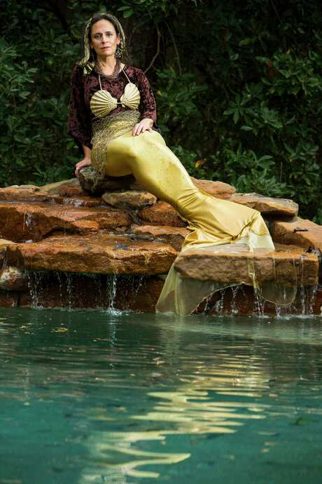 Angela Lorio, a Magnolia science teacher known as Mermaid Zaya, got into mermaiding on a whim. Photo: Brett Coomer, Staff / © 2017 Houston Chronicle