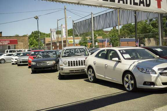 A dealer in used cars in the Woodside neighborhood of Queens in New York. (Richard B. Levine/Sipa USA/TNS)