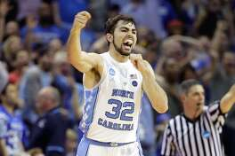 MEMPHIS, TN - MARCH 26:  Luke Maye #32 of the North Carolina Tar Heels reacts after a basket late in teh second half against the Kentucky Wildcats during the 2017 NCAA Men's Basketball Tournament South Regional at FedExForum on March 26, 2017 in Memphis, Tennessee.  (Photo by Andy Lyons/Getty Images)