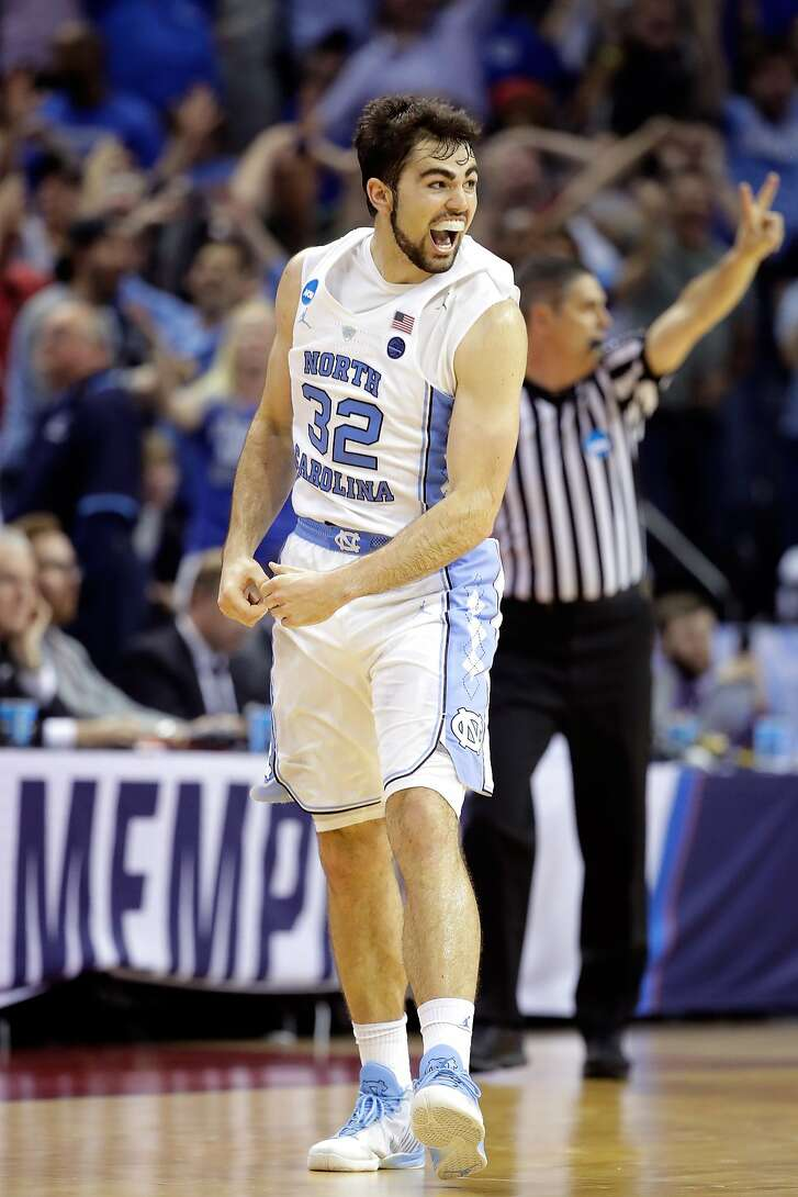 MEMPHIS, TN - MARCH 26:  Luke Maye #32 of the North Carolina Tar Heels reacts after making the game winning basket late in the second half against the Kentucky Wildcats during the 2017 NCAA Men's Basketball Tournament South Regional at FedExForum on March 26, 2017 in Memphis, Tennessee.  (Photo by Andy Lyons/Getty Images)