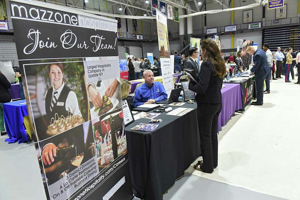 University at Albany hosts its Spring 2017 Job and Internship Fair in the SEFCU Arena on Tuesday, Feb. 21, 2017 in Albany, N.Y. (Lori Van Buren / Times Union)