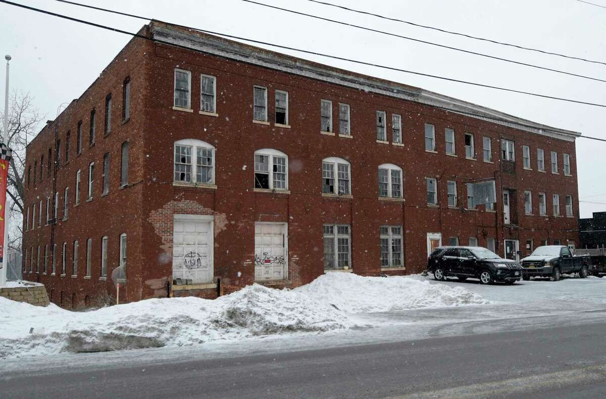 Thethree-story historic industrial buildingat 669 River St. is the anticipated home for The Local Troy, a partnership between Common Roots Brewing Company in Glens Falls and The Local restaurants in Saratoga Springs(Skip Dickstein/Times Union)