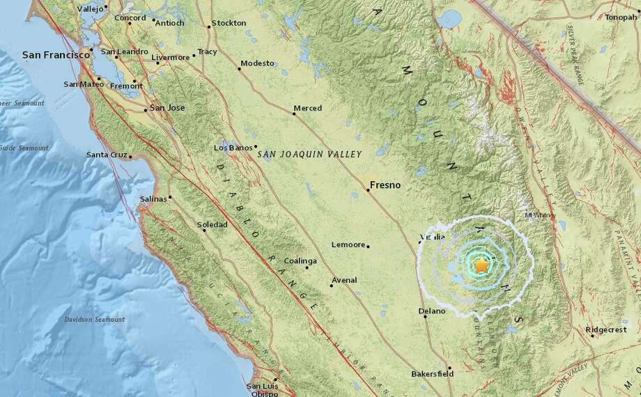 Magnitude 3 6 earthquake strikes near Porterville, CA - SFGate