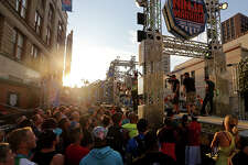 American Ninja Warrior San Antonio competitors tour the course.