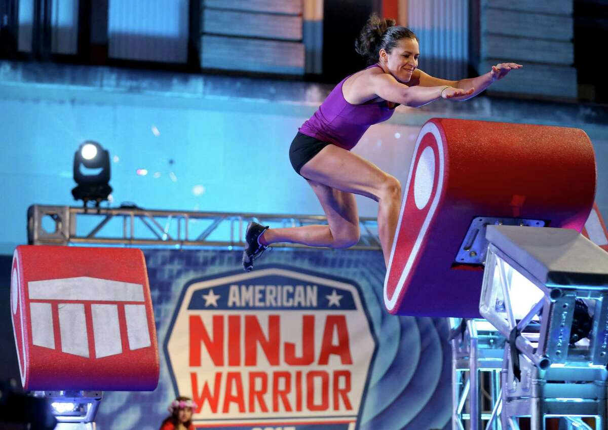 American Ninja Warrior San Antonio competitor Catherine Risinger runs the course.