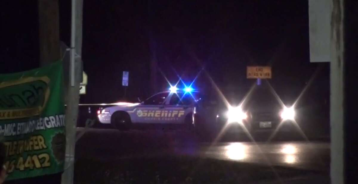 A deputy shot and injured a suspect who tried to run him over in north Harris County. (Metro Video)