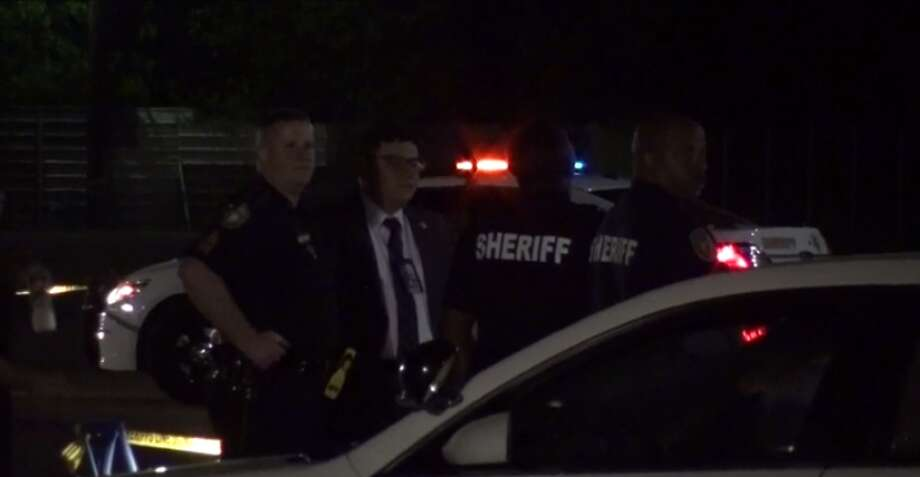 A deputy shot and injured a suspect who tried to run him over in north Harris County. (Metro Video) Photo: Metro Video