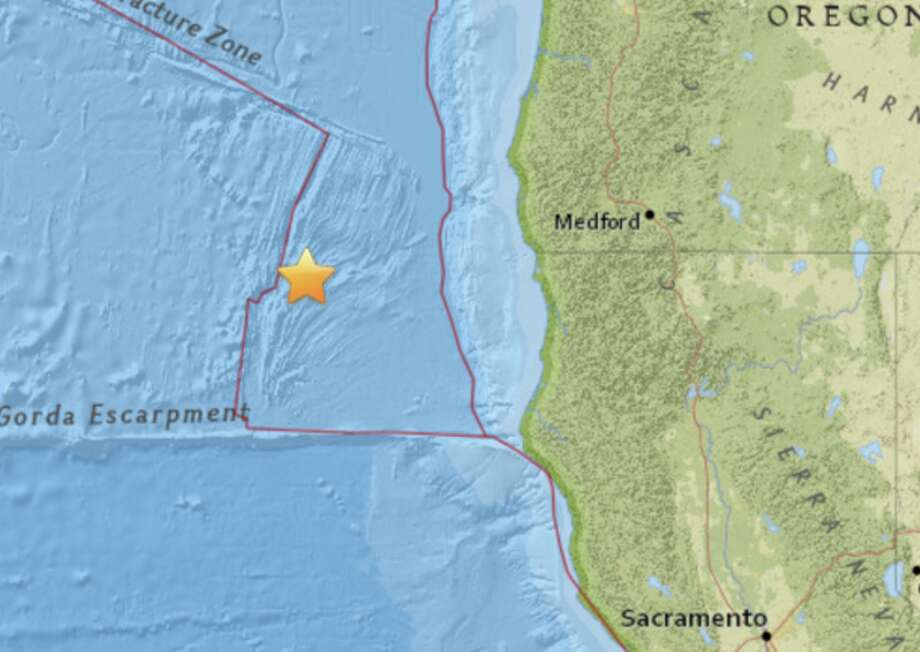 An earthquake struck off the coast of Northern California early on Monday, March 27. Photo: USGS