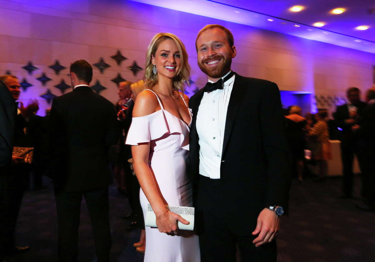 Pierce Bush and Sarahbeth Melton at the TUTS gala on Saturday, March 25, 2017, at the Hobby Center in Houston. (Annie Mulligan / Freelance)