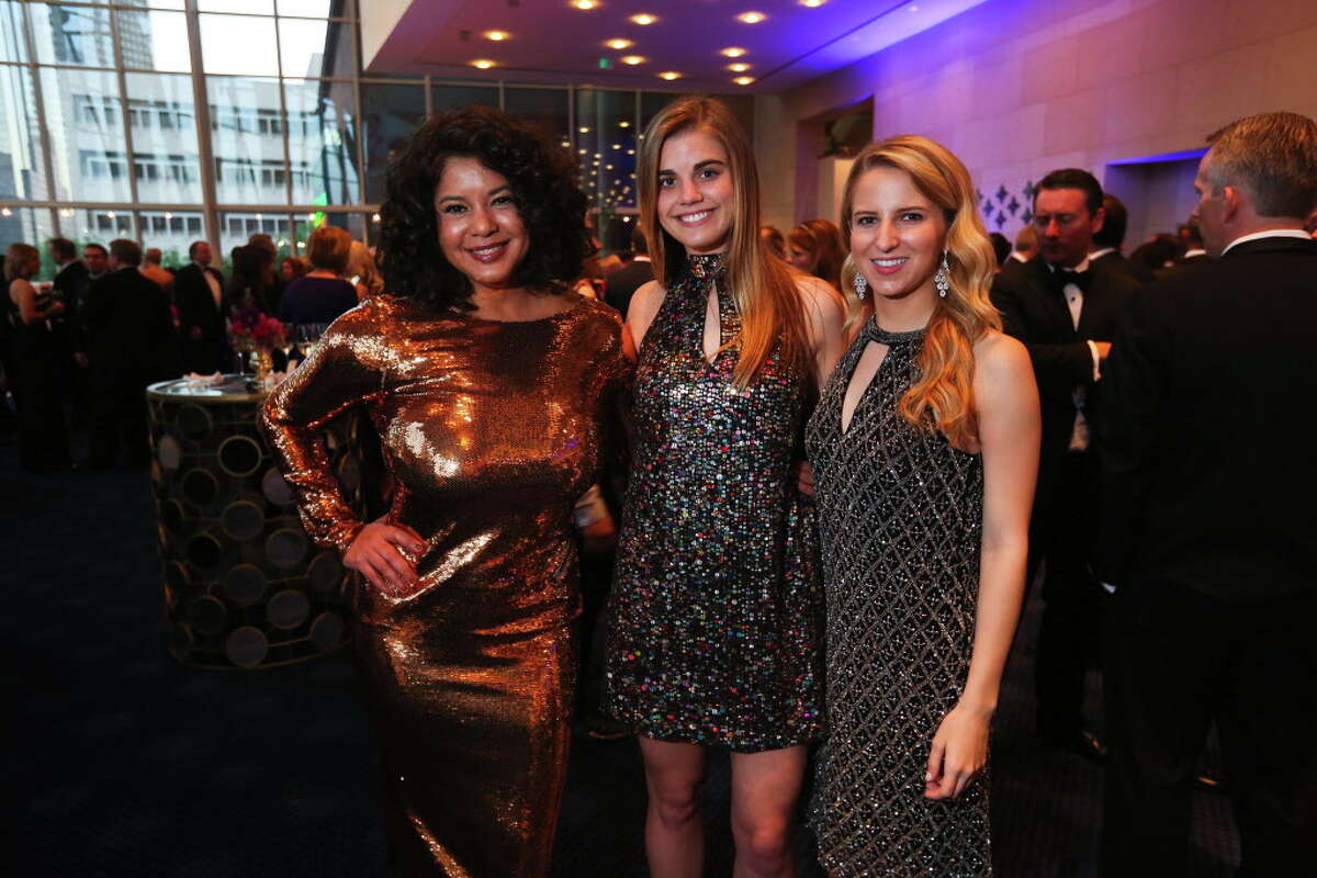 Marguerite Chapman, Casey Chapman and Anna Stuchly at the TUTS gala on Saturday, March 25, 2017, at the Hobby Center in Houston. (Annie Mulligan / Freelance)