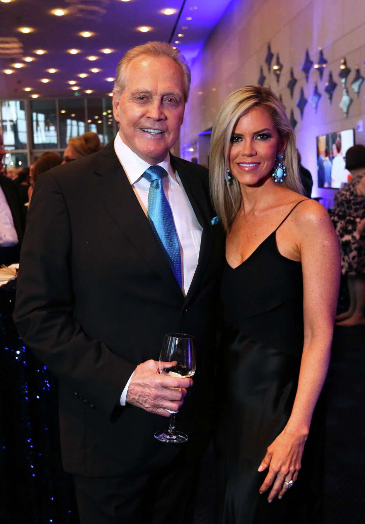 Lee and Faith Majors at the TUTS gala on Saturday, March 25, 2017, at the Hobby Center in Houston. (Annie Mulligan / Freelance)