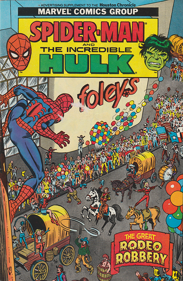 That time Spider-man and The Hulk came to Houston to fight ...