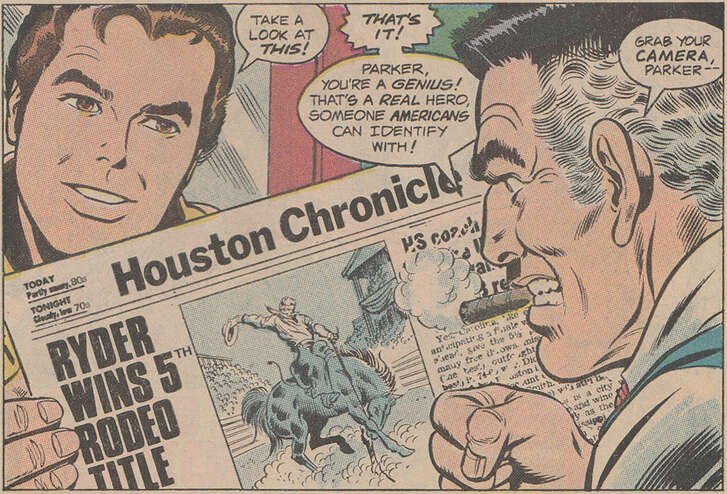 The 1982 story of Spider-man and the Incredible Hulk fighting bad guys in the (vague) streets of Houston during a rodeo parade doesn't seem to lose its appeal to superhero fans and Houston history buffs alike.