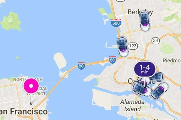 A BART stoppage cause surge pricing on ride-sharing services Lyft (pictured above) and UBER Monday morning, March 27, 2017.