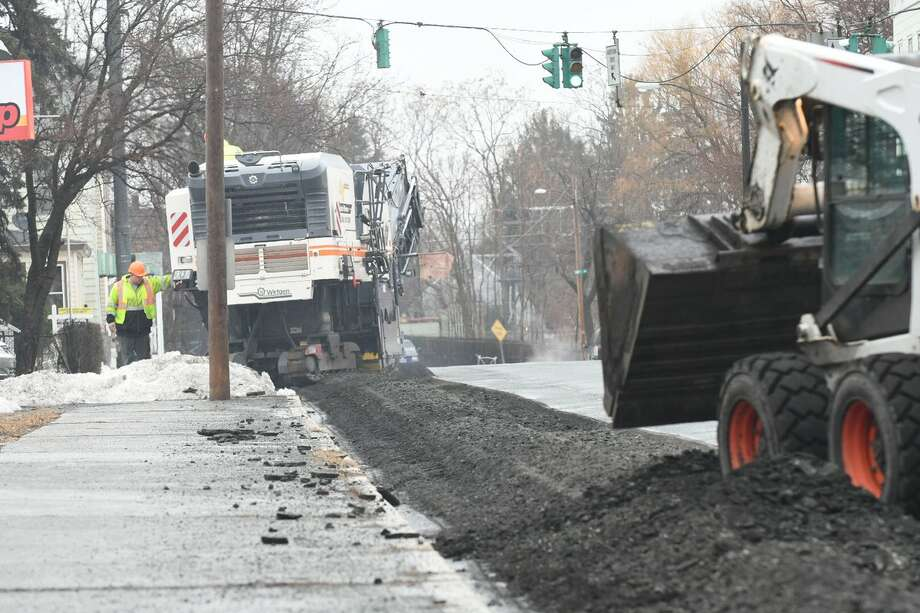 Work began Monday, March 27, 2017, in Troy to replace a mile-long section of a major water main that burst in 2016, disrupting regional water supplies before it was repaired. (Will Waldron/Times Union) Photo: Will Waldron/Times Union