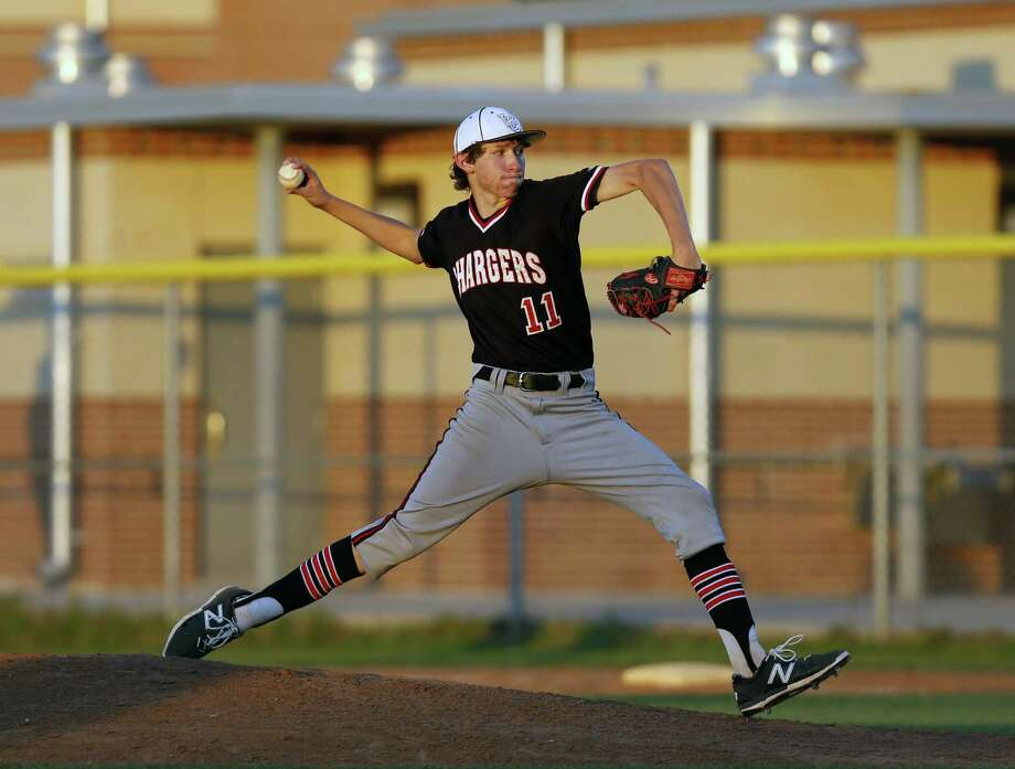 Churchill starting pitcher Nico O'Donnell thows against Steele in the Class 6A bidistrict baseball game between Churchill and Steele on Friday May 6, 2016 at Steele HS. Photo: Ronald Cortes, Freelance / For Express News
