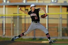 Churchill starting pitcher Nico O'Donnell throws against Steele in the Class 6A bidistrict baseball playoff game on May 6, 2016.