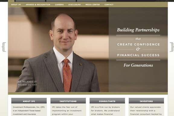 Screengrab of the website for San Antonio-based Investment Professionals Inc. Ameriprise Financial has entered into an agreement to acquire IPI. Pictured in the screengrab is IPI President and CEO Jay McAnelly.