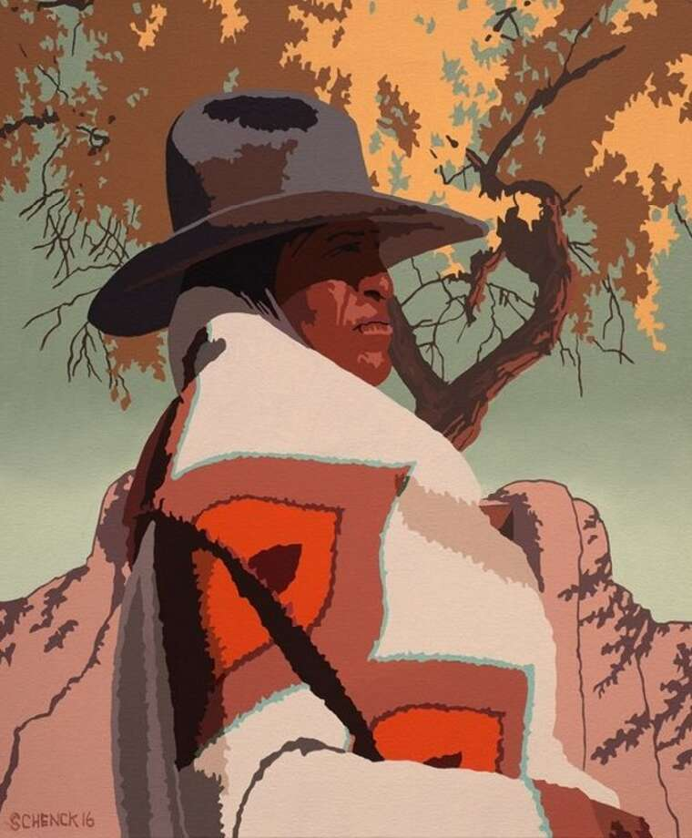 Contemporary Western artist Billy Schenck, who is known as a leading cowboy pop artist, will give a talk as part of the Briscoe's Voices of the West lecture series. Schenck's photo-based paintings in a saturated Southwestern palette, can be reverential or slightly subversive, with references to movie cowboys, pop culture icons and pinup models. He has works in the Smithsonian Institute and the Denver Art Museum.6:30 p.m. Tuesday. Briscoe Western Art Museum, 210 W. Market St. $10. Reservations at 210-299-4499. briscoemuseum.org-- Jim Kiest  Photo: Courtesy Photo