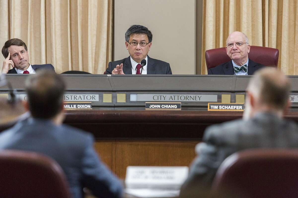 State Treasurer John Chiang speaks as the Cannabis Banking Working Group hears proposals for giving marijuana businesses access to deposit and payment accounts, currently hard for them to access because of federal anti-money-laundering laws that target drug-related revenues during a meeting, Monday, March 27, 2017 in Oakland, CA.