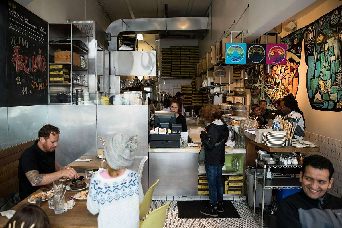 An interior view of Pizzeria Delfina in San Francisco, Calif. on Friday, March 24, 2017.