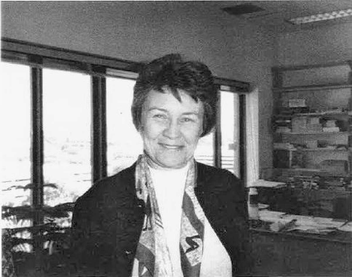 This photo of Carolyn Randall was taken in the late 1990s when she left the audiobook program she had devoted her time and talent to.