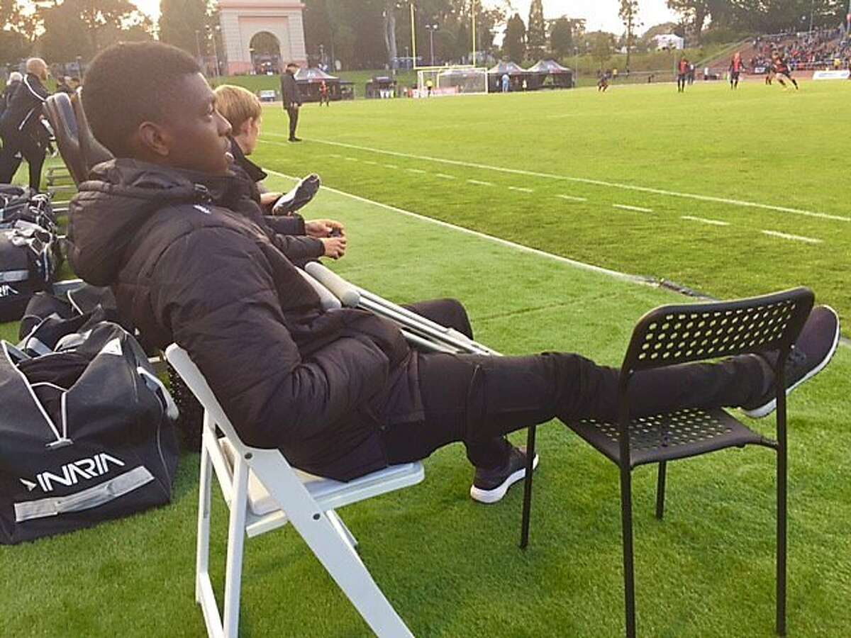 Saalih Muhammad, sidelined by an injury