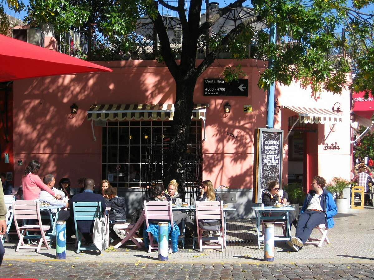 There is no shortage of hip sidewalk cafes in the Palermo Soho neighborhood of Buenos Aires.
