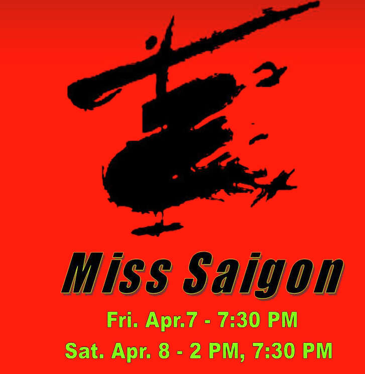 "World Theater will present ""Miss Saigon"" at 7:30 p.m. Friday, April 7, and 2 p.m. Saturday, April 8."