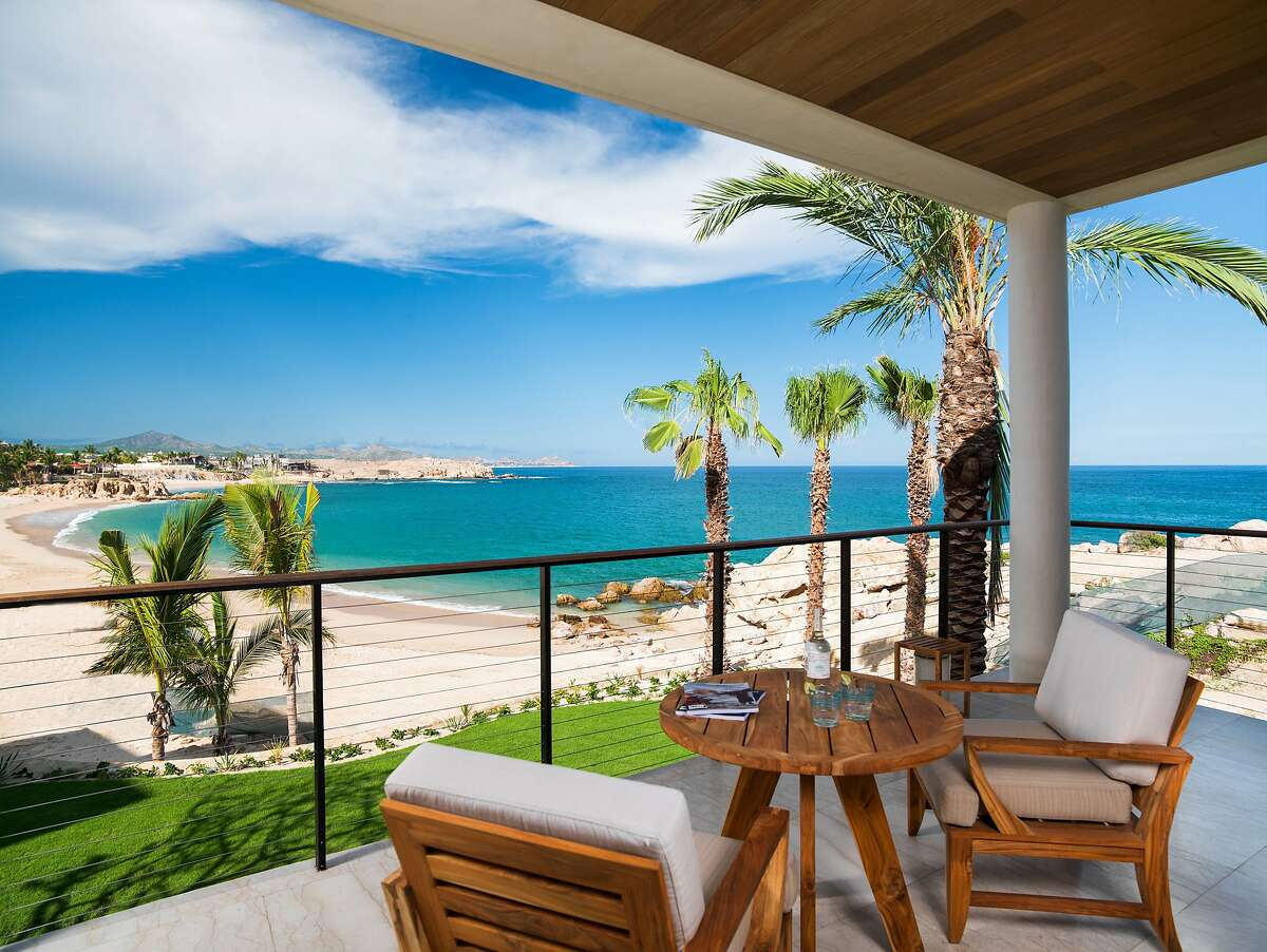 Some villas at the new Chileno Bay Resort and Residences overlook Chileno Beach, one of the few swimmable beaches in Los Cabos.