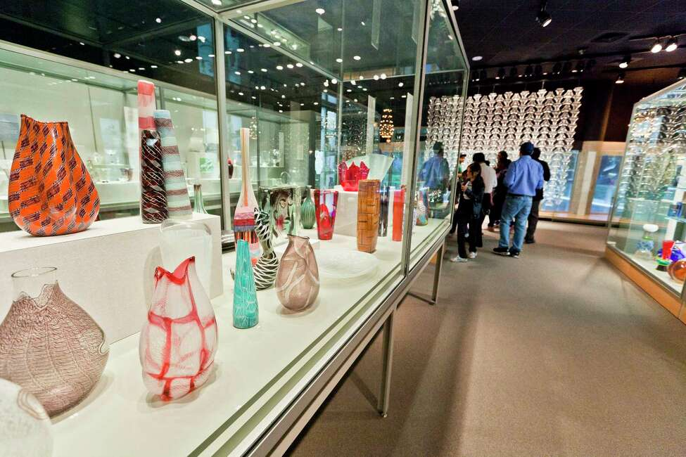 In an undated handout photo, mid-20th century glassworks on display at the Corning Museum of Glass in Corning, N.Y. Corning Inc. has through donations gradually expanded the once-modest museum into a world-renowned home for glass art, with another new wing coming in 2015. (Gary Hodges via The New York Times) -- NO SALES; FOR EDITORIAL USE ONLY WITH STORY SLUGGED NY-GLASS-MUSEUM BY SCHNEIDER. ALL OTHER USE PROHIBITED. ORG XMIT: XNYT28