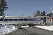 File photo of a Metro North train in Redding.