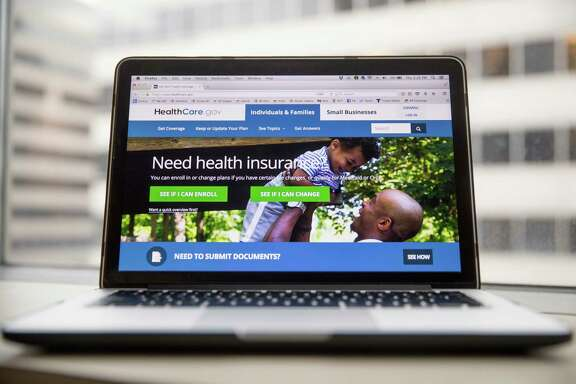 The HealthCare.gov website, where people can buy health insurance, displayed on a laptop computer screen in Washington. (AP Photo/Andrew Harnik)