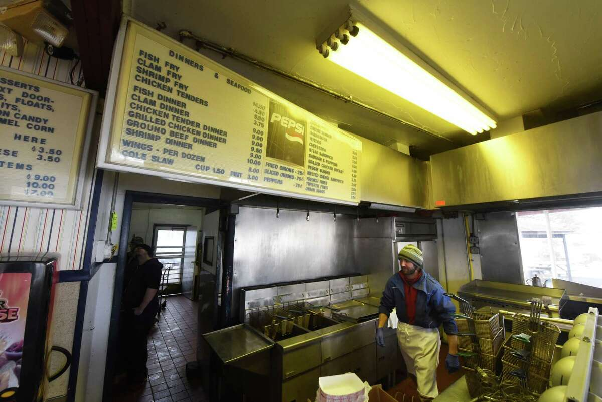 Joe Sokol prepares the kitchen for a new season at Jumpin?' Jack?'s Drive-In on Monday, March 27, 2017, in Scotia, N.Y. The popular eatery is scheduled to open on Thursday. (Will Waldron/Times Union)