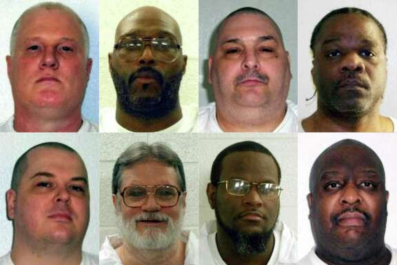 Arkansas death row inmates, from left top, are Don William Davis, Stacey Eugene Johnson, Jack Harold Jones and Ledelle Lee; (from left, bottom) Jason F. McGehee, Bruce Earl Ward, Kenneth D. Williams and Marcel W. Williams. Arkansas Governor Asa Hutchinson has sparked controversy by announcing that the state plans to execute the eight inmates over a 10-day period in April. Arkansas has not executed any prisoners since 2005, and no state has carried out eight executions in 10 days since the US Supreme Court reinstated the death penalty in 1976. (Photo: Arkansas Department of Correction/HO/AFP/Getty Images)