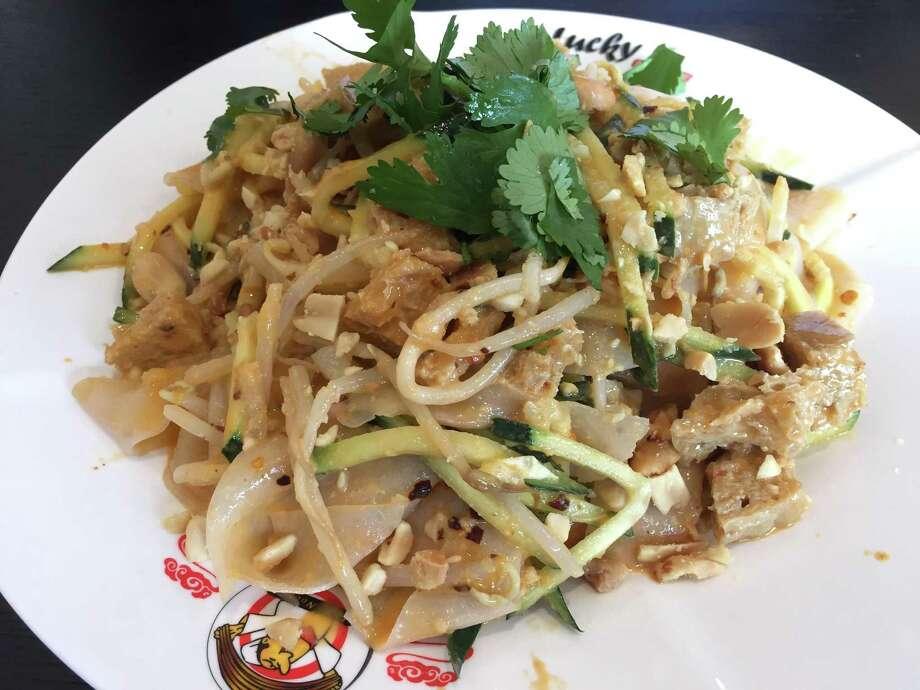 Cold noodle salad at Lucky Noodle Photo: Edmund Tijerina /San Antonio Express-News / San Antonio Express-News