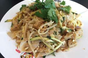 Cold noodle salad at Lucky Noodle