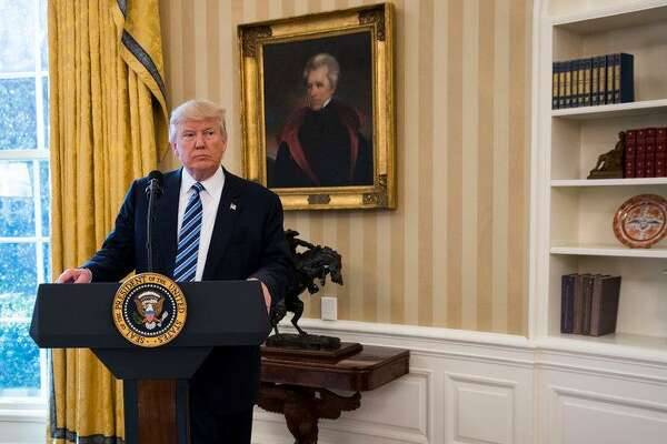 President Donald Trump had this portrait of President Andrew Jackson placed in the Oval Office.