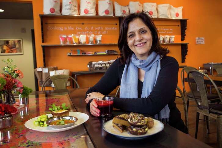 """I'm understanding the South a little bit more and themes that work with Indian food,"" Pondicheri owner/chef Anita Jaisinghani says."