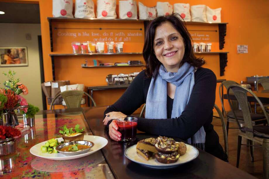 """""""I'm understanding the South a little bit more and themes that work with Indian food,"""" Pondicheri owner/chef Anita Jaisinghani says. Photo: Brett Coomer, Staff / © 2017 Houston Chronicle"""