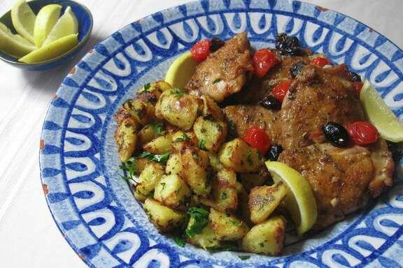 Greek-style roasted lemon potatoes