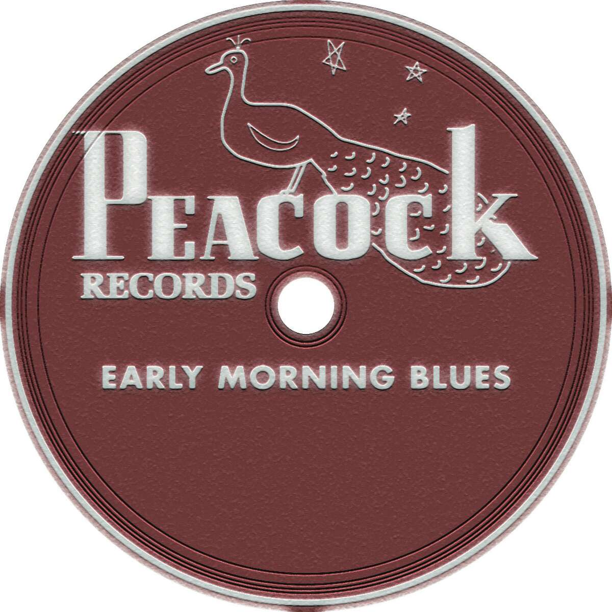 Illustration for package on Texas blues - Peacock Records label