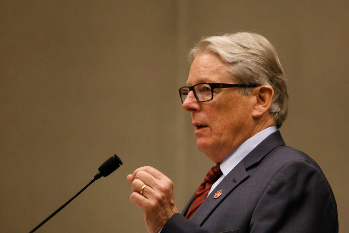 Bill Monning purposes a bill at the Capitol Building in Sacramento, California, on Tuesday, July 7, 2015.